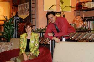 Elke und Alexander Lück betreiben ihren Raumausstatterbetrieb im fränkischen Volkach.