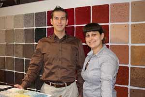 Die Geschwister Nina und Daniel Zweiffel eröffneten 2009 den bundesweit ersten Jab Anstoetz-Shop im Stilwerk Berlin.