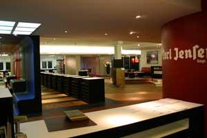 Nach dem Umzug in die neuen Räume präsentiert sich Carl Jensen anstatt auf 50 auf 700 m².