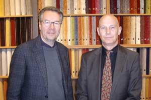Inhaber Martin Knauff (links) und Geschäftsführer Harald Lampp.
