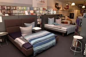 Interessante Kombination: Vanoni ist sowohl klassischer Raumausstatter als auch Bettenfachhandel.