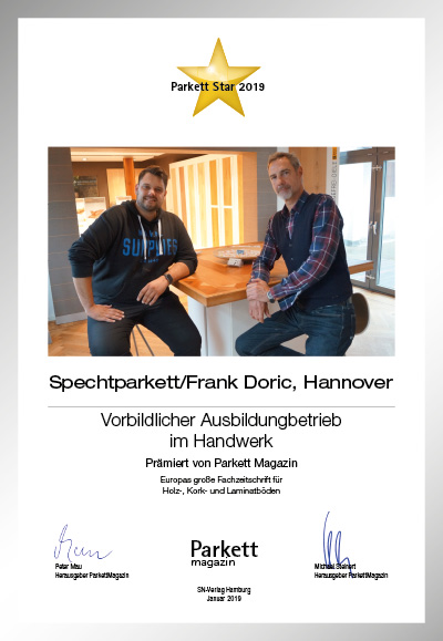 Frank Doric Parkettboden GmbH / Spechtparkett